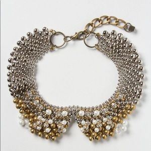 Pam Hiran Anthropologie Peter Pan Collar Necklace